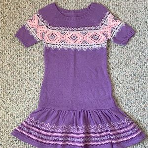 Never worn!! Justice girls knit sweater dress